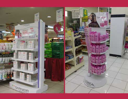 Floor Stand Indoor Advertising Loreal Maybeline